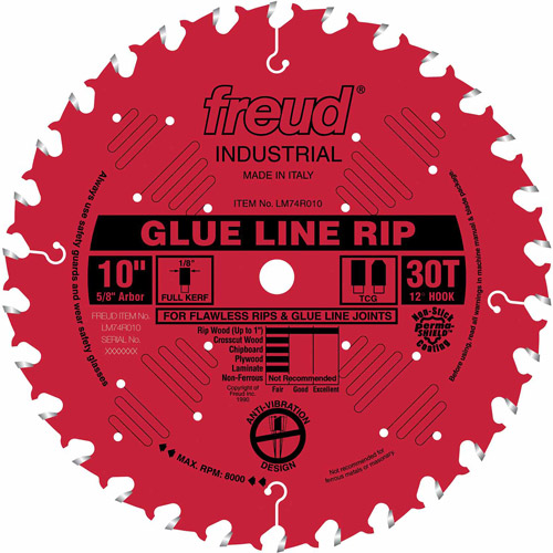 "Freud LM74R010 10"" 30T Heavy-Duty Ripping Saw Blade"