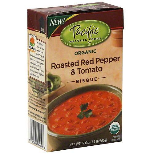 Pacific Natural Foods Roasted Red Pepper & Tomato Organic Bisque Soup, 17.6 oz (Pack of 12)
