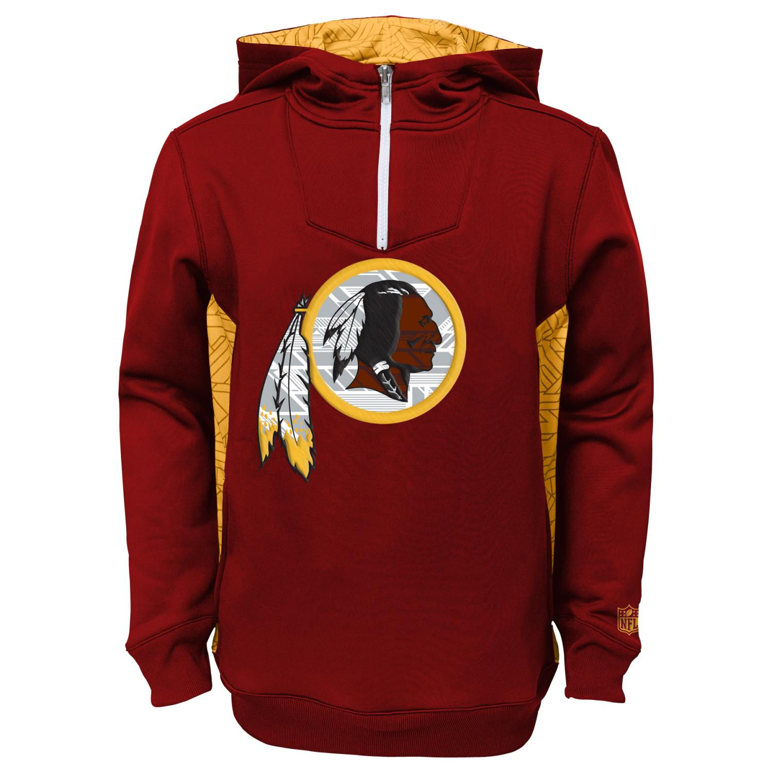 "Washington Redskins Youth NFL ""Power Logo"" Performance Hooded Sweatshirt"
