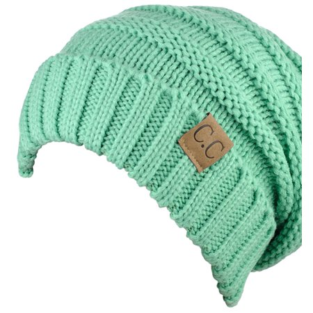 36d87931a NYFASHION101 Exclusive Oversized Baggy Slouchy Thick Winter Beanie Hat -  Sage
