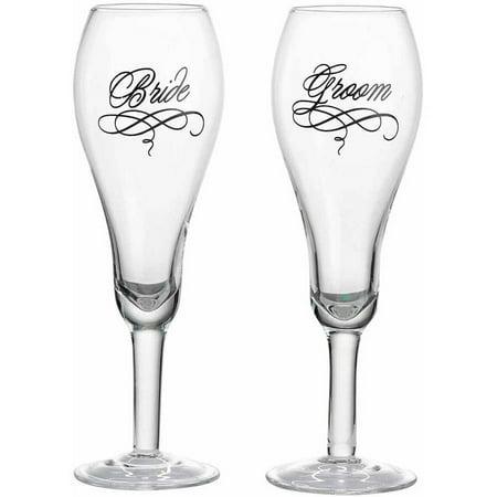 Lillian Rose Bride and Groom Glasses (Bride And Groom Wine Glasses)