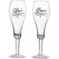 Lillian Rose Bride and Groom Glasses