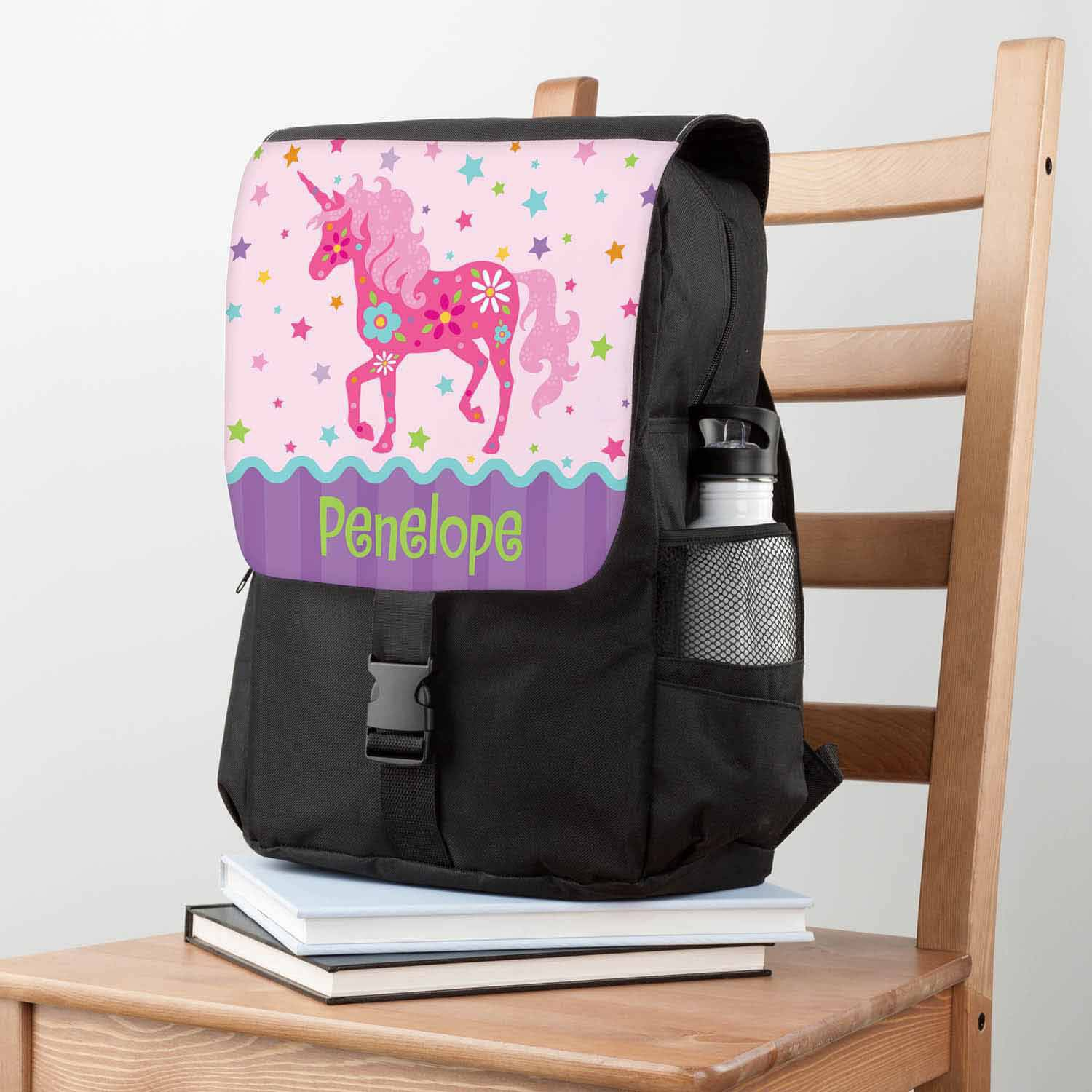 Personalized Backpack - Pretty Unicorn