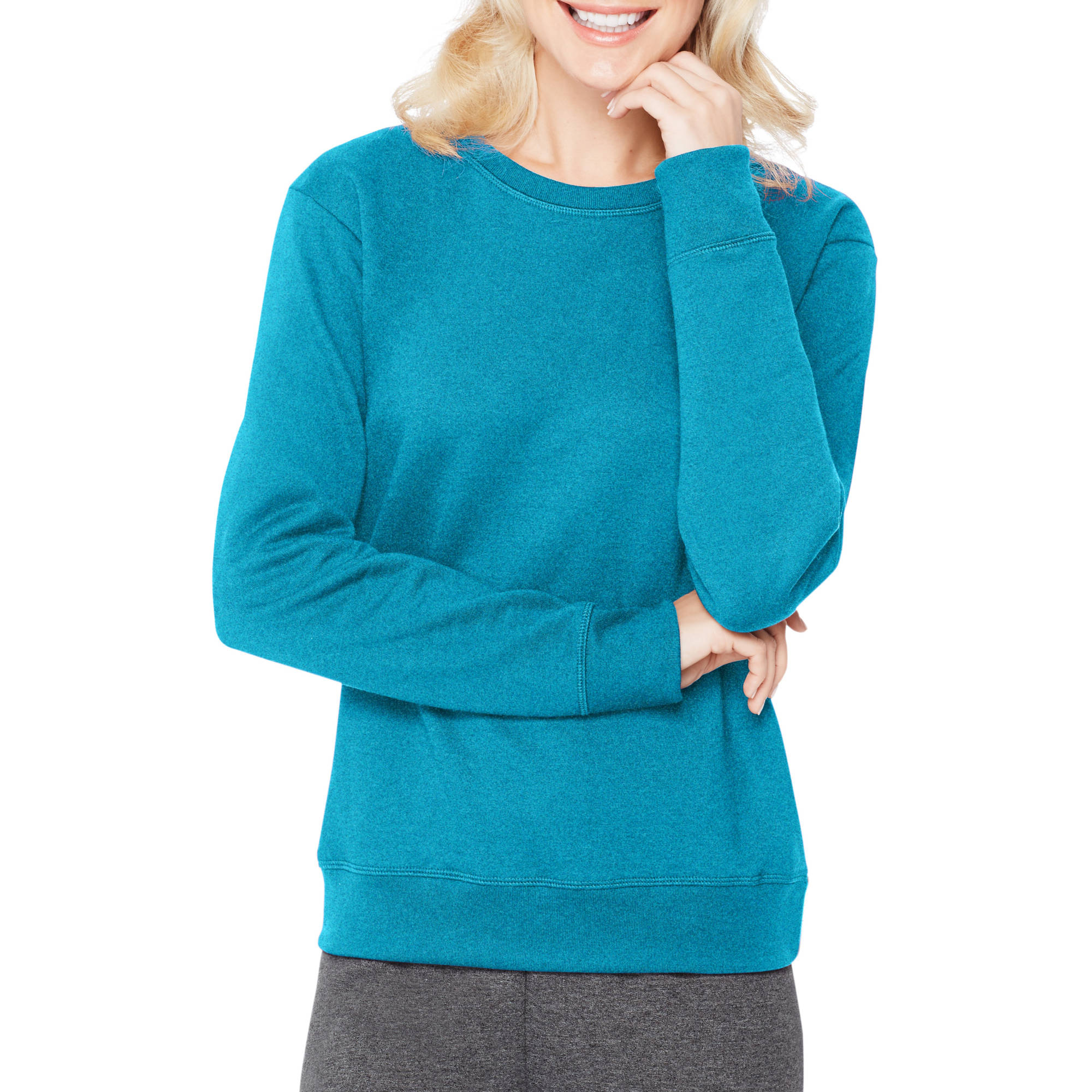 Hanes Women's Essential Crewneck Fleece Pullover Sweatshirt ...
