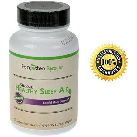 Sommeil sain supplément d'aide avec Special Blend Enzyme: Valériane, Mélatonine et Passiflore - non toxicomanogène - non OGM - 60 Capsules Veg