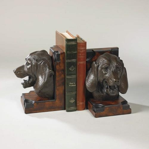 Bookends Bookend Classic Foxhound Head Dogs Cast Resin New Hand-Cast Han OK-1289 by
