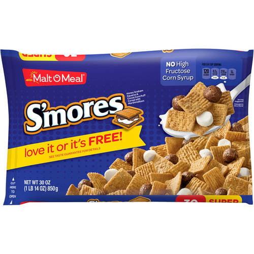 Malt-O-Meal Breakfast Cereal, S'mores, 30 Oz, Bag