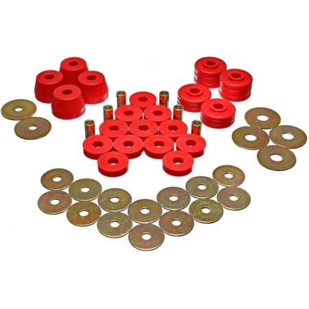 Energy Suspension Body Mount Bushing Sets - Red Body Mount Bushing Set
