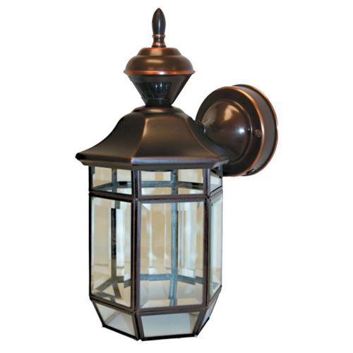 "Heath Zenith HZ-4175 Lexington 1 Light 13-1/2"" Tall 150 Degree Motion Activated Outdoor Wall Sconce"