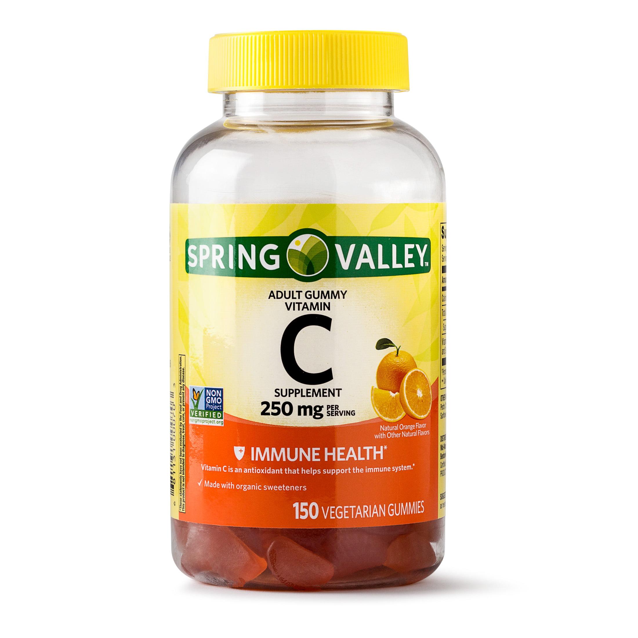 Spring Valley Vitamin C Gummy, 250 mg, 150 Ct - Walmart ...