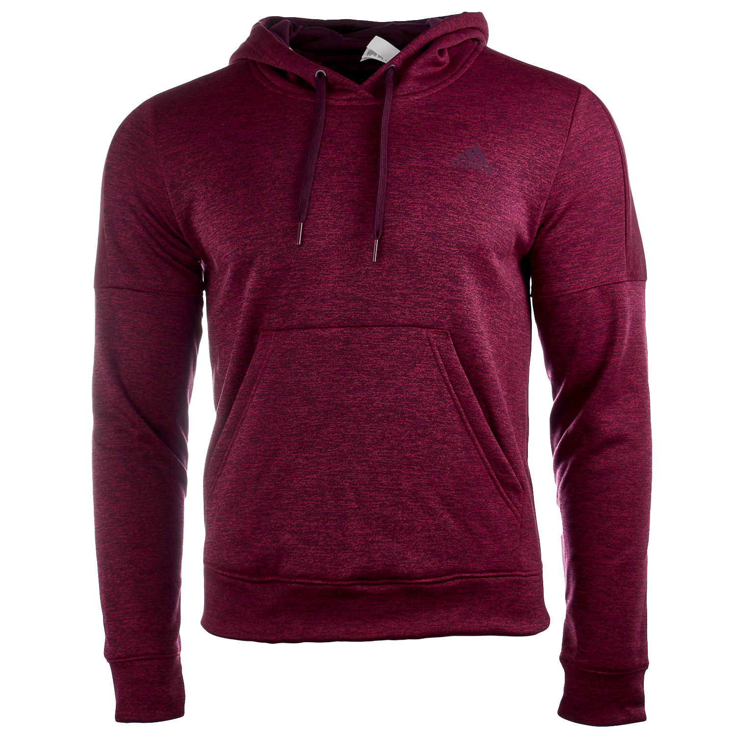 Adidas Team Issue Fleece  Pullover Hoodie - Mystery Ruby Melange/Mystery Ruby Melange/Red Night - Womens - L
