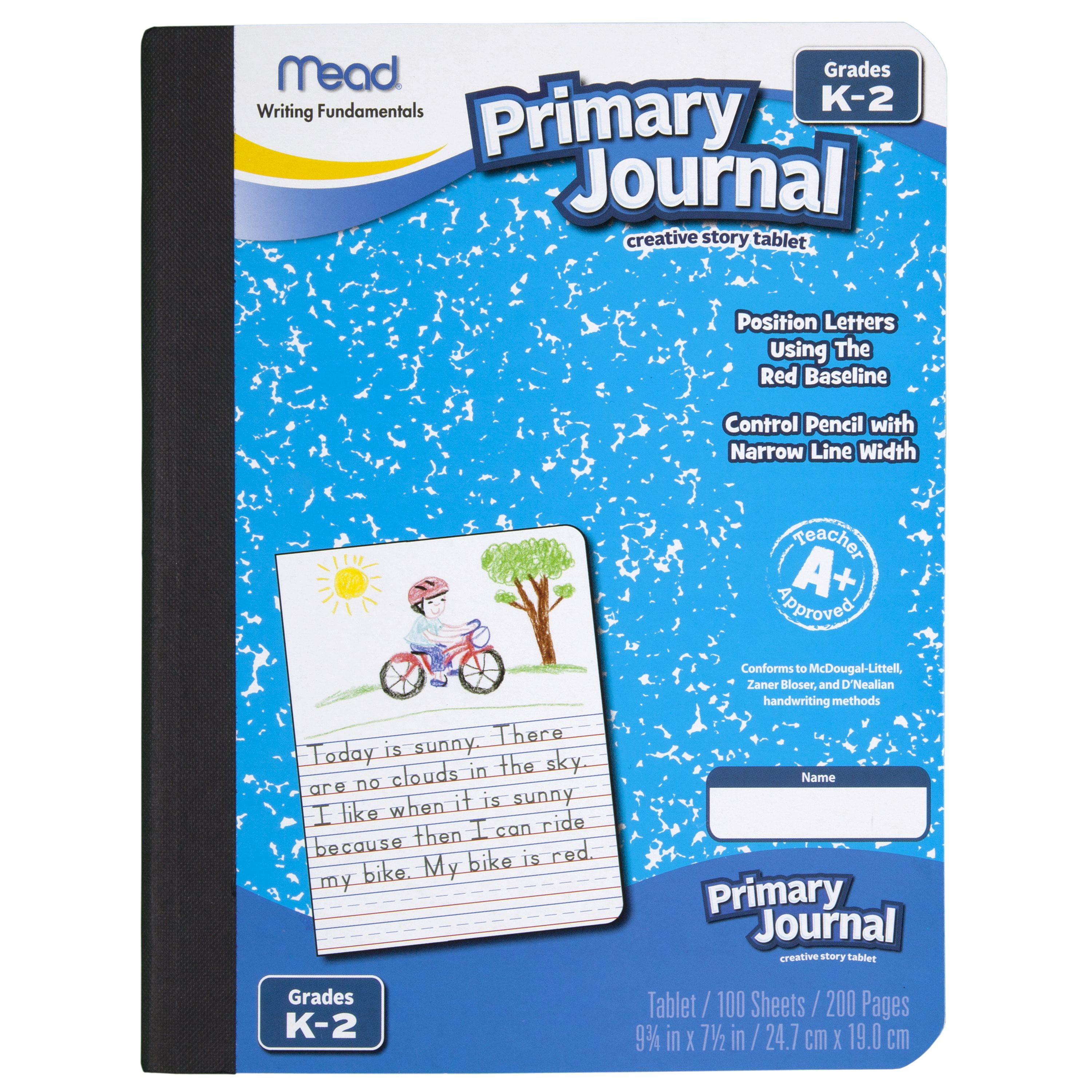 Mead Primary Journal, Half Page Ruled, Grades K-2, 100 Sheets, 7 1/2 ...