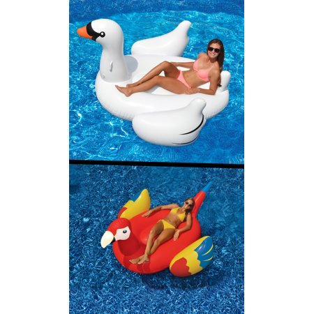 Swimline Swimming Pool Giant Rideable Inflatable Swan + Parrot | 90621 + 90629](Giant Parrot)