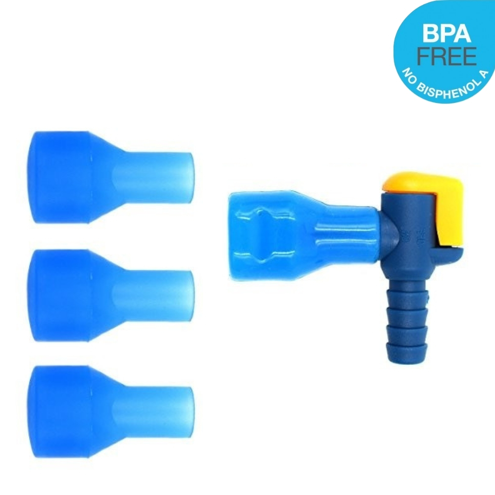 Water Bag Hydration Pack Bite Valve Nozzle Bladder Mouthpiece Straight Blue