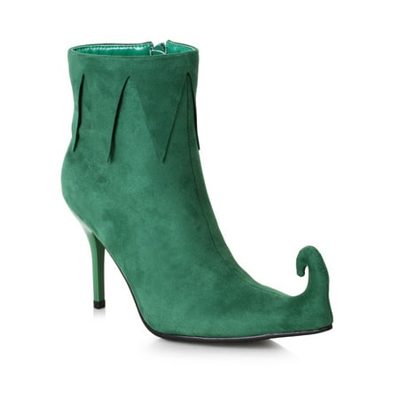 Halloween Costume Accessory for Women: 3 inch Heel Green Holiday Boot - Ladies Costumes For Halloween