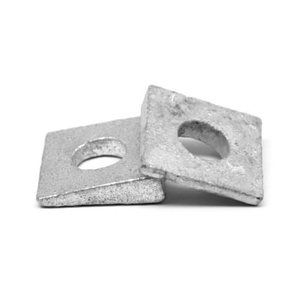 "1/2"" Grade F436 Square Beveled Structural Hardened Washer Medium Carbon Steel Hot Dip Galvanized Pk 25"
