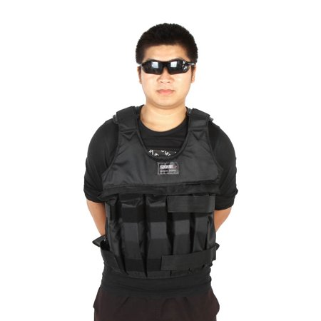 Max Loading 50kg Adjustable Weighted Vest Weight Jacket Exercise Boxing Training Waistcoat Invisible Weightloading Sand Clothing (Empty) - image 7 de 7