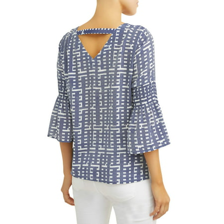 Women's Smocked Bell Sleeve Top