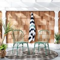 Everleigh Outdoor Side Chairs Green