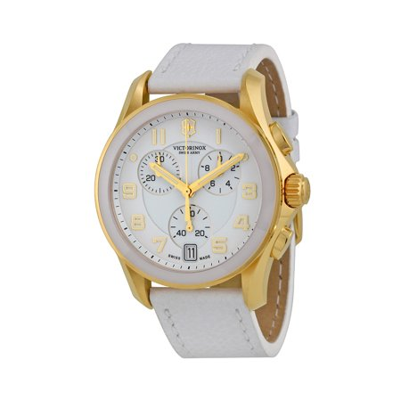 Chrono Classic Gold Tone Steel Womens Strap Watch White Dial 241511