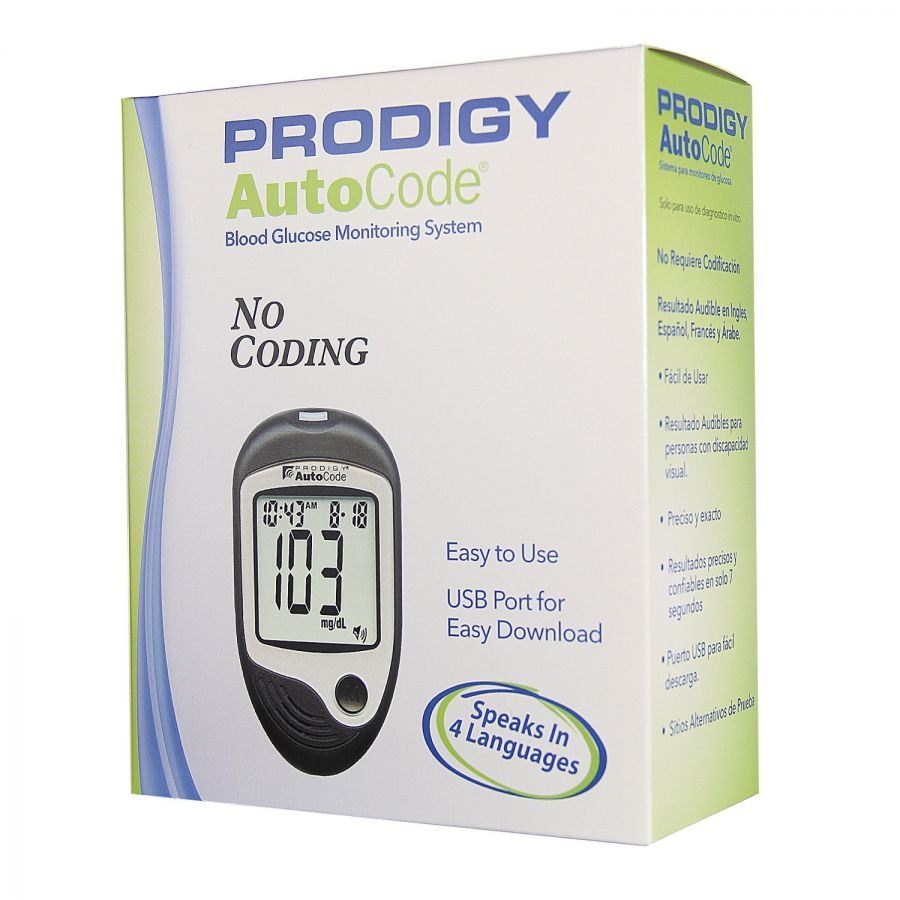 AutoCode Talking Blood Glucose Monitoring System No Coding, 450 Test Memory