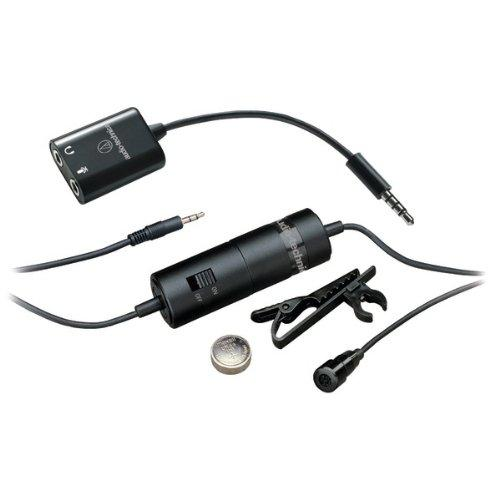 Audio-technica Atr3350is Microphone - 15 Hz To 18 Khz - Wired - 19.69 Ft - Condenser, Omni-directional - Lapel - Mini-phone (atr-3350is)