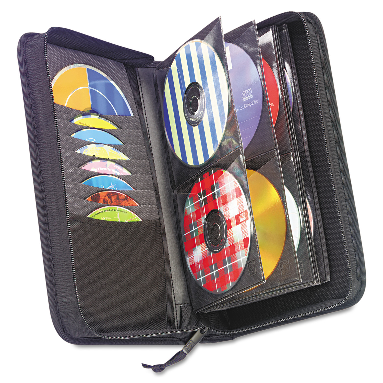 Case Logic CD/DVD Wallet, Holds 72 Discs, Black