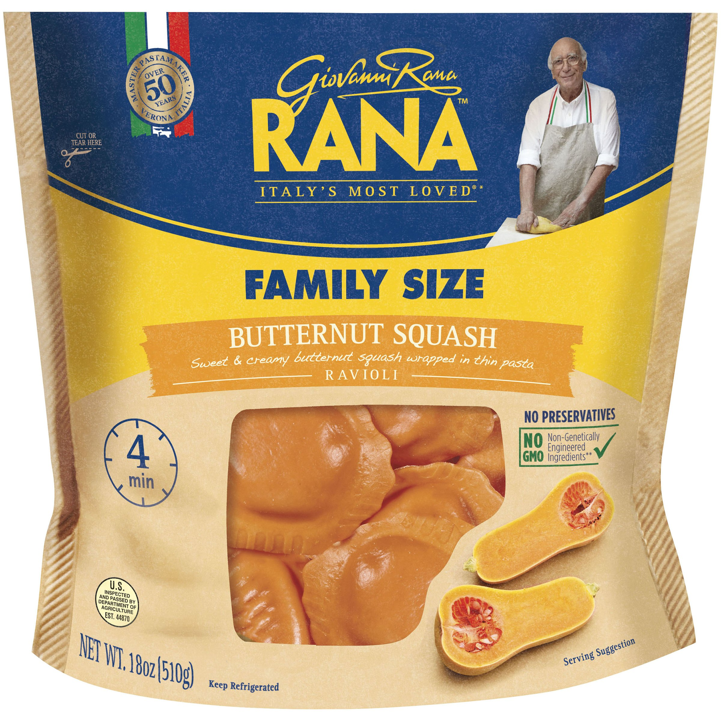 Rana™ Butternut Squash Ravioli 18 oz. Stand-Up Bag