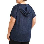 ad2b844294093 Terra   Sky - Terra   Sky Women s Plus Short Sleeve Dolman Hoodie ...