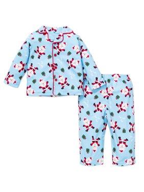 122819cf60 Product Image Little GIrl 2pc Little Boys Santa Christmas Holiday Pajamas  Blue 12 Months X-Mas