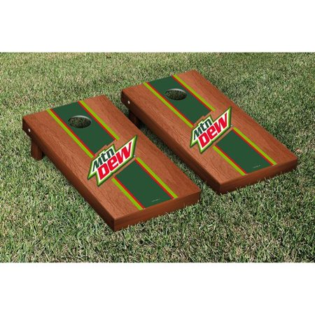 Victory Tailgate Mountain Dew Stained Stripe Version Cornhole Game Set