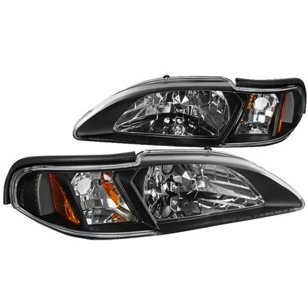- Ford Mustang Head Lights, Corner Lamp 4Pc