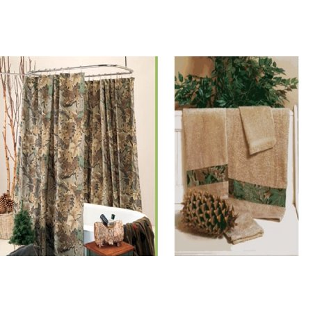 Realtree Advantage Camo Shower Curtain Towel Set