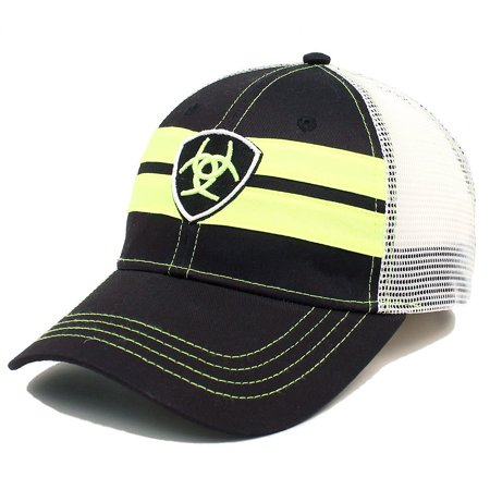 ARIAT MENS COTTON NEON LOGO SNAP MESH BACK BASEBALL CAP Rhinestone Mesh Back Cap