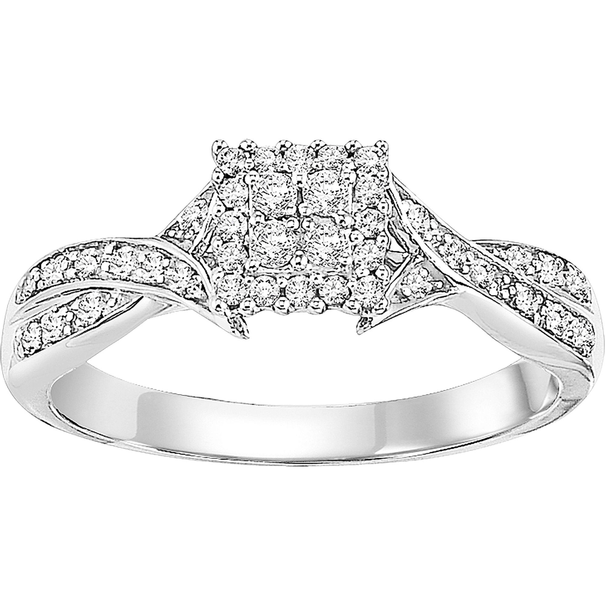 Keepsake Fortunate 1/4 CT. T.W. Diamond 10kt White Gold Ring