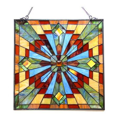 24' Suspended Ceiling Kit - CHLOE Lighting EMMA Tiffany-glass Window Panel 24