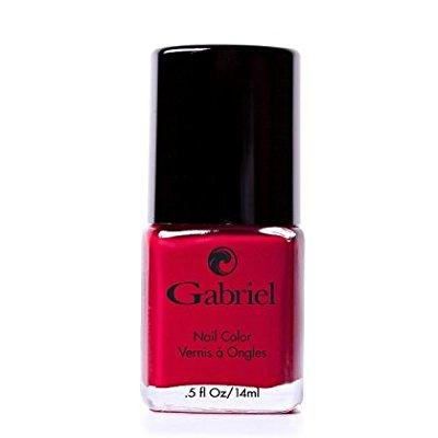 gabriel cosmetics non toxic nail polish classic true red - White And Red Halloween Nails