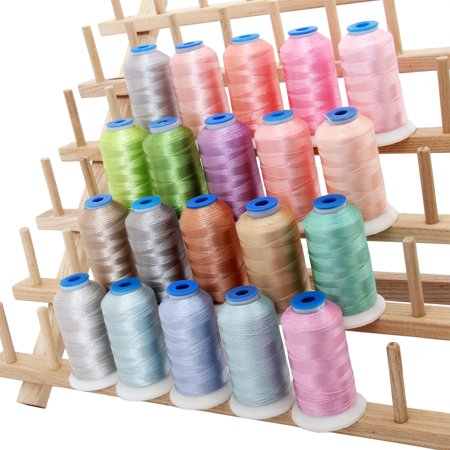 Beautiful 20 Cone Set of Rayon Embroidery Thread by Threadart - Pastel Colors - 1000m Cones 40wt - Silky Luxurious Finish - For Machine Embroidery and Decorative Stitching