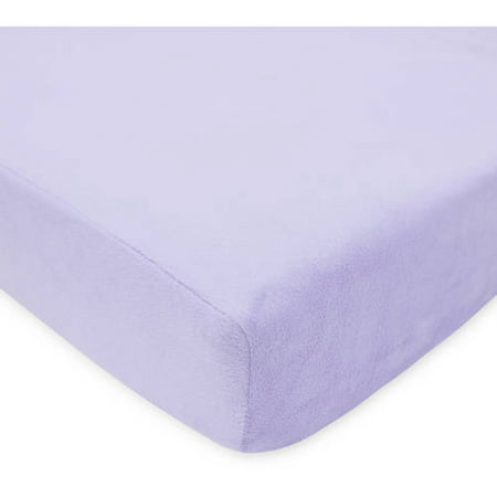American Baby Company Heavenly Soft Chenille Fitted Crib Sheet for Standard Crib and Toddler Mattresses, Lavender