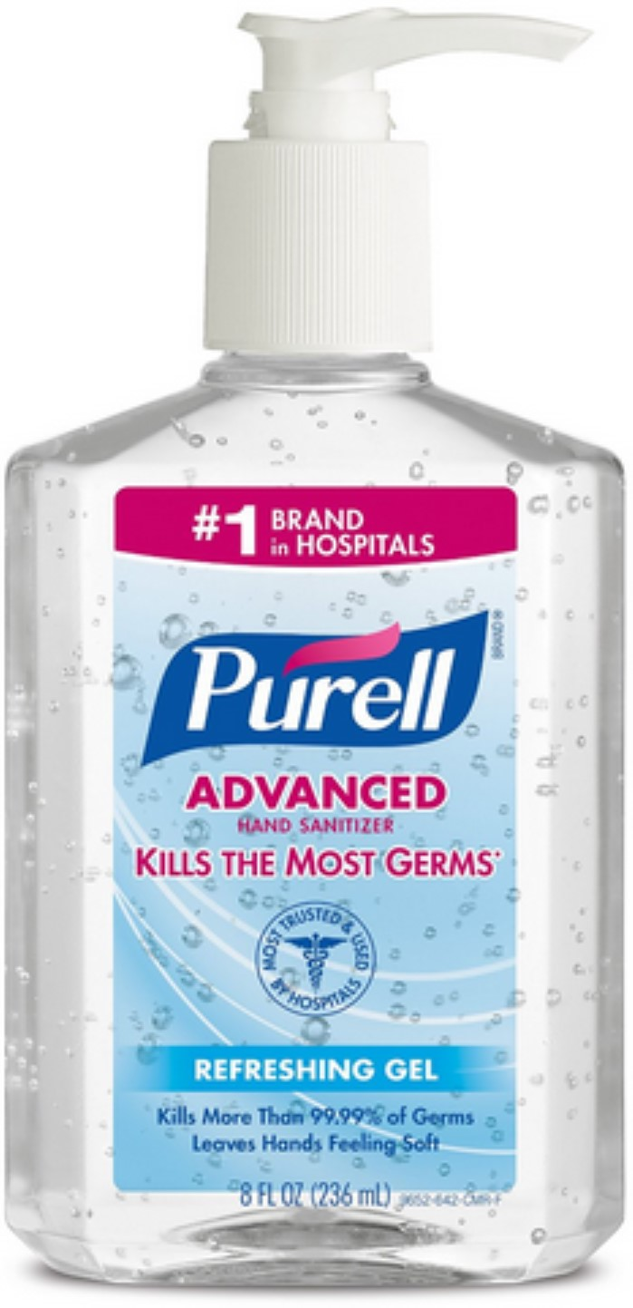 6 Pack Purell Advanced Instant Hand Sanitizer Gel 8 oz by