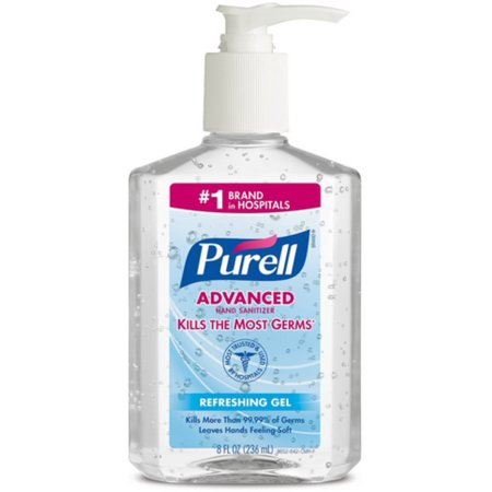 Purell Advanced Instant Hand Sanitizer Gel 8 oz (Pack of 2)