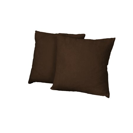 - Ultimate Better Fit Decorative Throw Pillows Set of 2, 18-inch Square-size, Suede Chocolate Brown