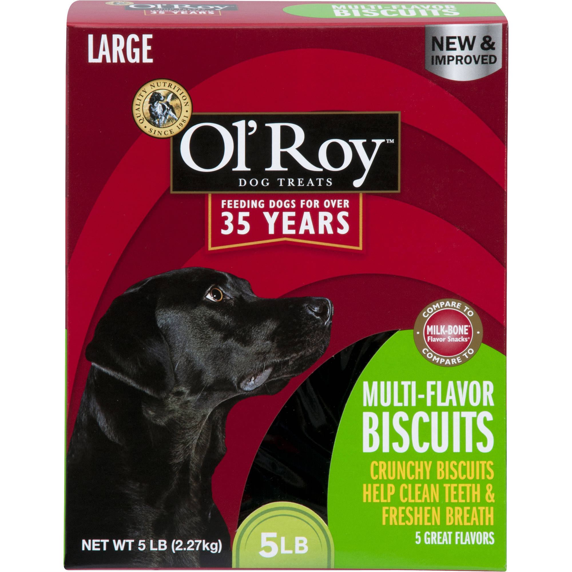 Ol' Roy Multi-Flavor Dog Biscuits, Large, 5 lb