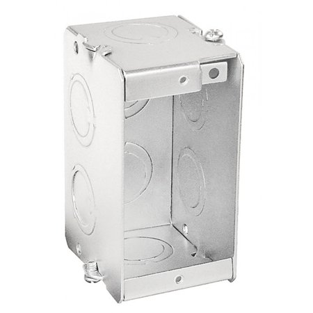2 Pcs, Gangable Masonry Box, One Gang, 2-1/2 In. Deep for Mounting Switches, Plugs, Outlets & Electronic & Electrical Devices