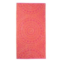 Mainstays 100% Cotton Pink Medallion Pattern Beach Towel