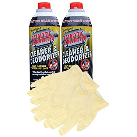 Catalytic Converter Cleaner (16 oz.) - Bundle with Latex Gloves (6