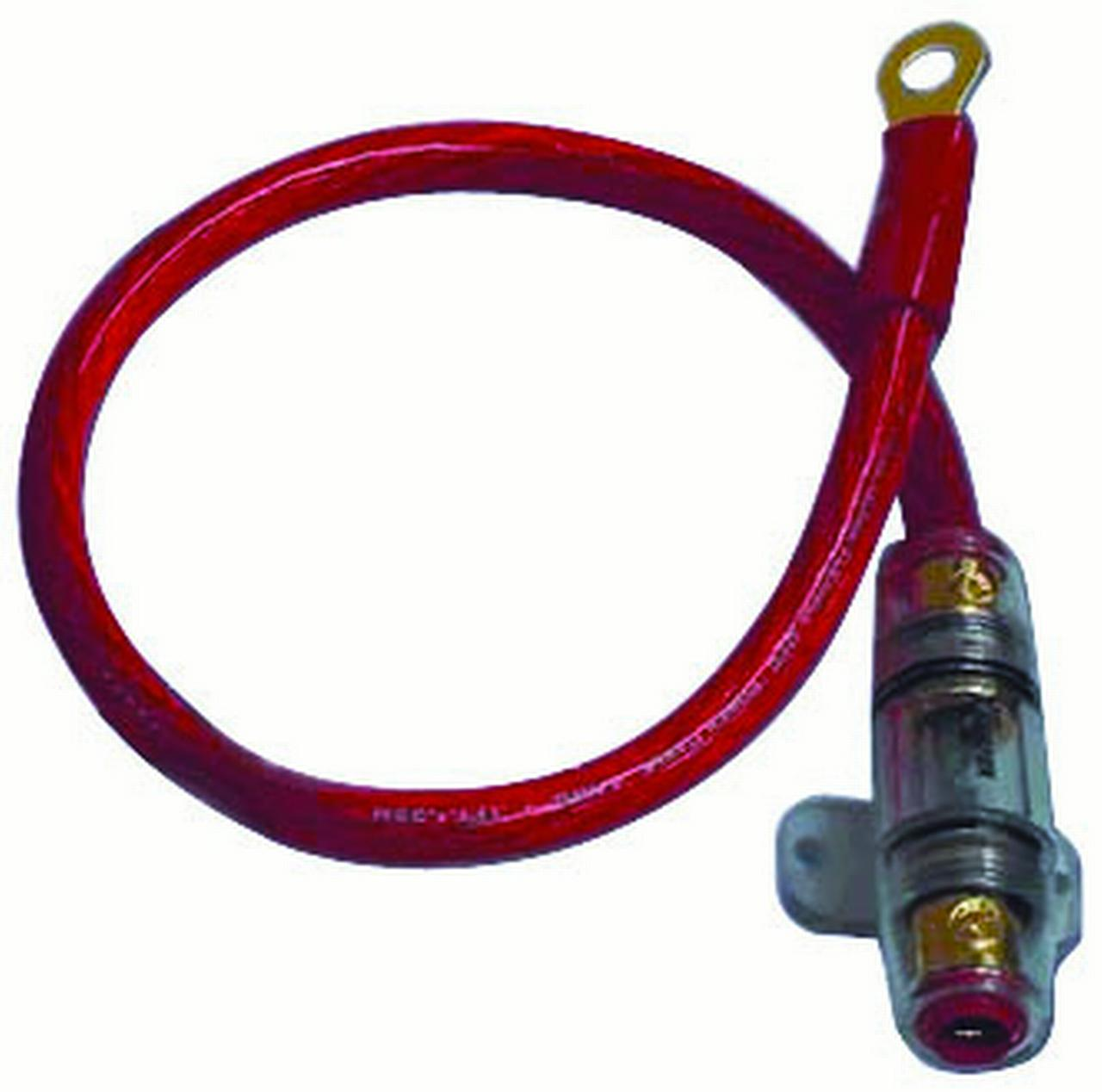 Xscorpion K4Bl Red 18 4Ga Power Cable With Agu In Line Fuseholder