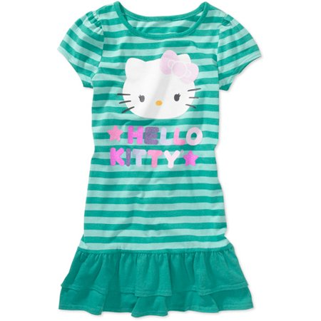 Hello kitty girls 39 t shirt dress for Hello kitty t shirt design
