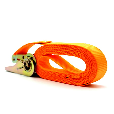 13 FT Porable Heavy Duty Tie Down Cargo Strap Luggage Lashing Strong Ratchet Strap Belt with Metal (Best Tie Down Systems)