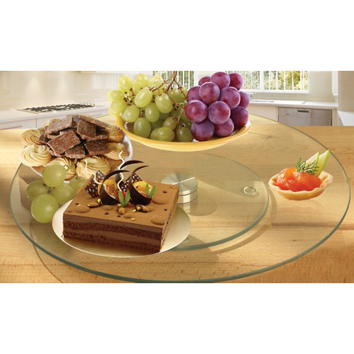 Imperial Home Tempered Glass Lazy Susan